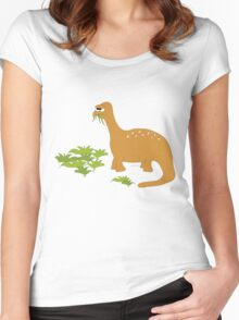 Cute dino too Women's Fitted Scoop T-Shirt