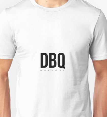 DBQ - Dubuque Airport Code Unisex T-Shirt