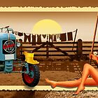 Country Living Nostalgic with Pin-Up girl by Monika Juengling