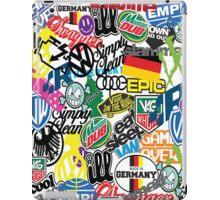 VW Sticker Bomb #0001 iPad Case/Skin