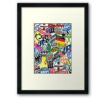 VW Sticker Bomb #0001 Framed Print