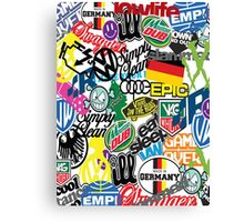 VW Sticker Bomb #0001 Canvas Print