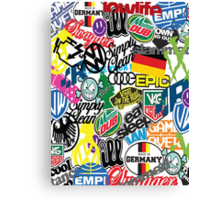 VW Sticker Bomb #0001 Canvas Print