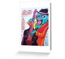 Jazz and Blues Greeting Card