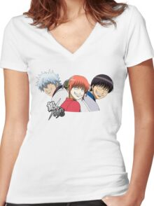 Gintama - Smiles Women's Fitted V-Neck T-Shirt
