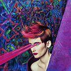 Cosmic girl with laser by jblitlemonsters