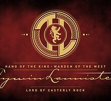 Tywin Lannister Monogram Logo by P3RF3KT