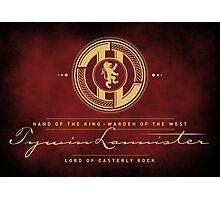 Tywin Lannister Monogram Logo Photographic Print