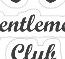 Djentlemen's Club Sticker