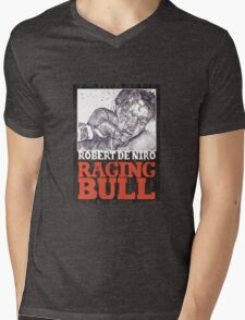RAGING BULL hand drawn movie poster in pencil Mens V-Neck T-Shirt
