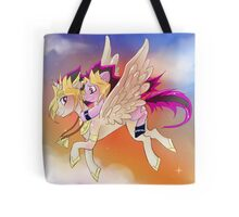 Yu-Gi-Oh!+My little pony sunset Tote Bag