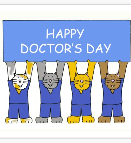 Happy Doctor's Day Cats Sticker