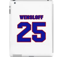 National baseball player Butch Wensloff jersey 25 iPad Case/Skin