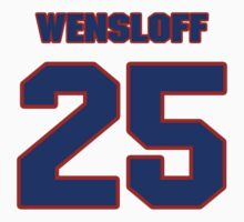 National baseball player Butch Wensloff jersey 25 by imsport