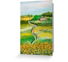 Verde sentiero Greeting Card