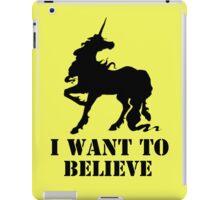 I believe in unicorns iPad Case/Skin