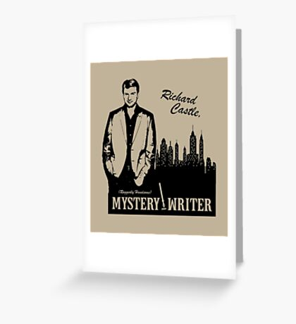 Richard Castle, Mystery Writer Greeting Card