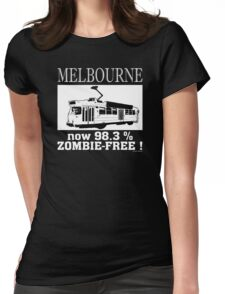 MELBOURNE - Now 98.3% zombie-free! Womens Fitted T-Shirt