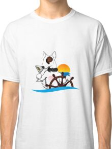 Elegant Bull terrier with helm Classic T-Shirt