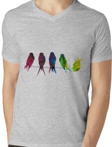 7 Birds on a line - edit Mens V-Neck T-Shirt