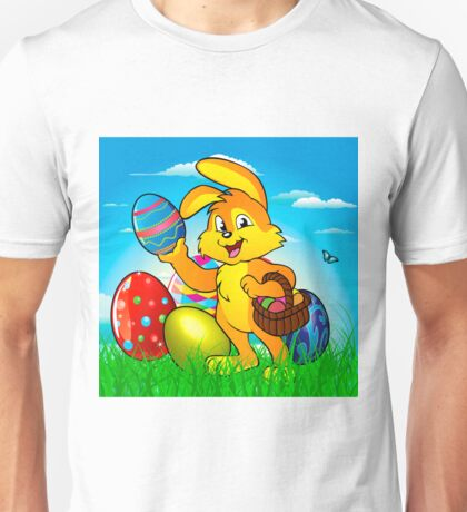 Easter bunny rabbit with Easter basket Unisex T-Shirt