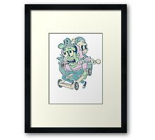 Death Race Framed Print