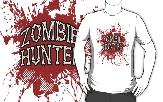 Zombie Hunter Red splatter by Tony  Bazidlo