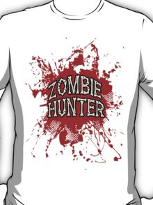 Zombie Hunter Red splatter T-Shirt