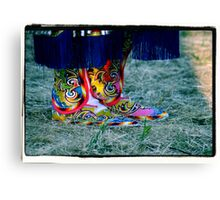 Beaded Moccasins Canvas Print