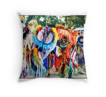 Young Fancy Dancers in Motion Throw Pillow