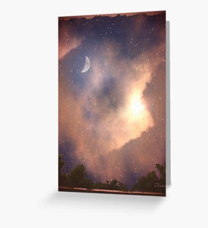 The Moon, Stars, Sun and Earth Greeting Card