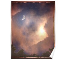 The Moon, Stars, Sun and Earth Poster
