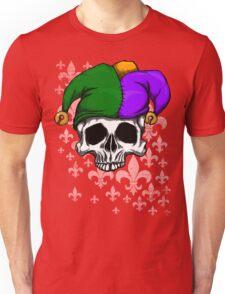 Mardi Gras Skull Unisex T-Shirt