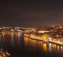 Porto at night by Manuel Gonçalves