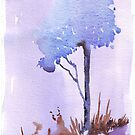 The lonely Blue gum by Maree  Clarkson