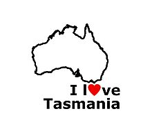 I Love Tasmania Photographic Print