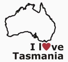I Love Tasmania Kids Clothes