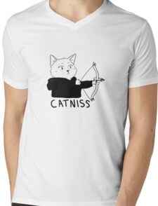 Catniss of District 12 Mens V-Neck T-Shirt