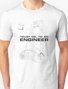 Trust Me I'm an Engineer Blueprint Sketch Unisex T-Shirt