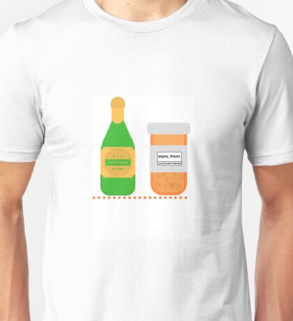 Champagne for my real friends, Real Pain for my sham friends.  Unisex T-Shirt