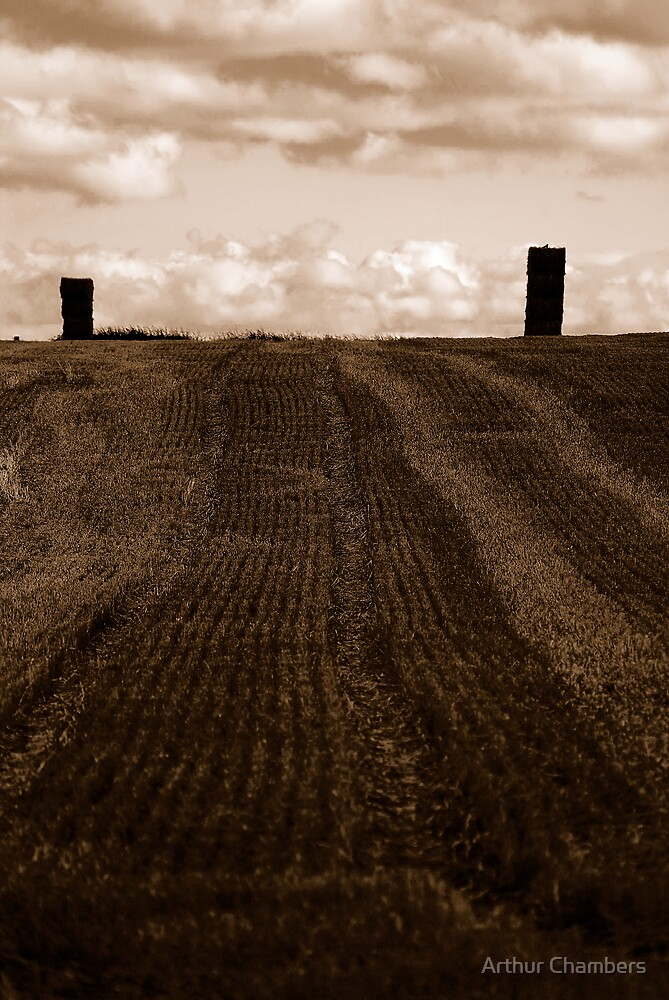 STRAW STACKS by Arthur Chambers