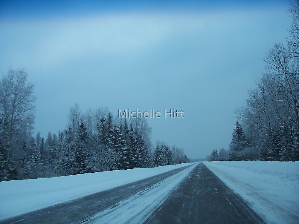 Snowy Road by Michelle Hitt