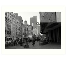 Flinders Street : Black and White Melbourne Art Print