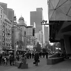 Flinders Street : Black and White Melbourne by CDCcreative