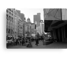 Flinders Street : Black and White Melbourne Canvas Print