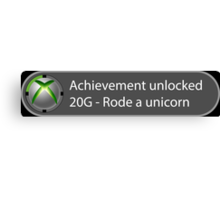Achievement Unlocked - 20G Rode a unicorn Canvas Print