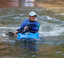 Man kayaking on Nantahala River by Ruth