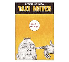 TAXI DRIVER hand drawn movie poster in pencil Photographic Print