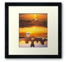 M Blackwell - Layerland 2: Saluting Four Sunrises Framed Print
