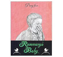 ROSEMARYS BABY hand drawn movie poster in pencil Photographic Print